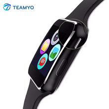 Продажа Teamyo X6 Смарт часы 1.54 »IPS HD Изогнутые Экран Relogio Bluetooth SmartWatch С Камера Поддержка sim-карта TF Facebook whatsApp