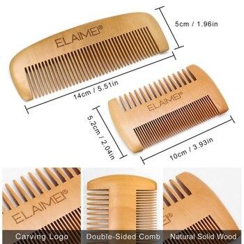 Men Beard Care Kits Beard Wax/Oil/Comb/Brush/Scissor Beard Styling Tools Set For Gift 4