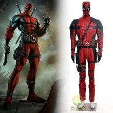 Hot Movie X-men Deadpool Costume Suit Adult Men's High Restore Halloween Cosplay Deadpool Costume Positive feedback