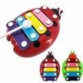Bebê Criança Kid Beetle 5-Note Musical Xilofone Sabedoria Brinquedos Desenvolvimento Educacional Toy Instrumento Musical