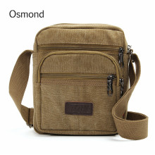 Osmond Vintage Canvas Men Shoulder Crossbody Bags Brown Male Travel Small Casual New Men's Messenger Bag Military Quality Brand