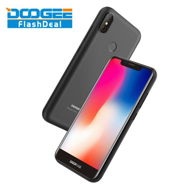 DOOGEE X70 5.5-inch U-Notch 2.5D Android 8.0 2GB RAM 16GB ROM MTK6580A Quad Core 3G Smartphone 8+5MP Rear Cameras