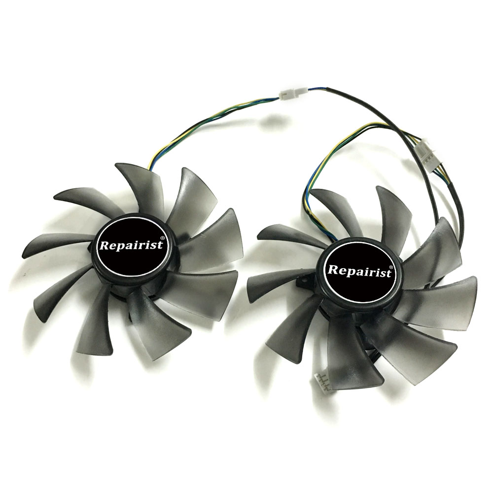 Graphics card Fan Matrix HD 7970/7950 gpu Cooler For ASUS HD7970 HD7950 DirectCU II Video Card cooling 75mm pld08010s12hh graphics video card cooling fan 12v 0 35a twin for frozr ii 2 msi r6790 n560gtx r6850 n460gtx dual cooler fan