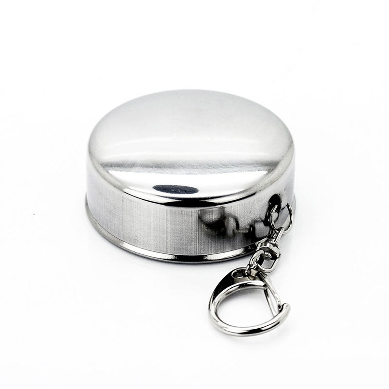 Mini Stainless Steel Portable Outdoor Travel Camping Folding Collapsible Cup Telescopic Mug With Keychain 75Ml 150Ml 240Ml (14)