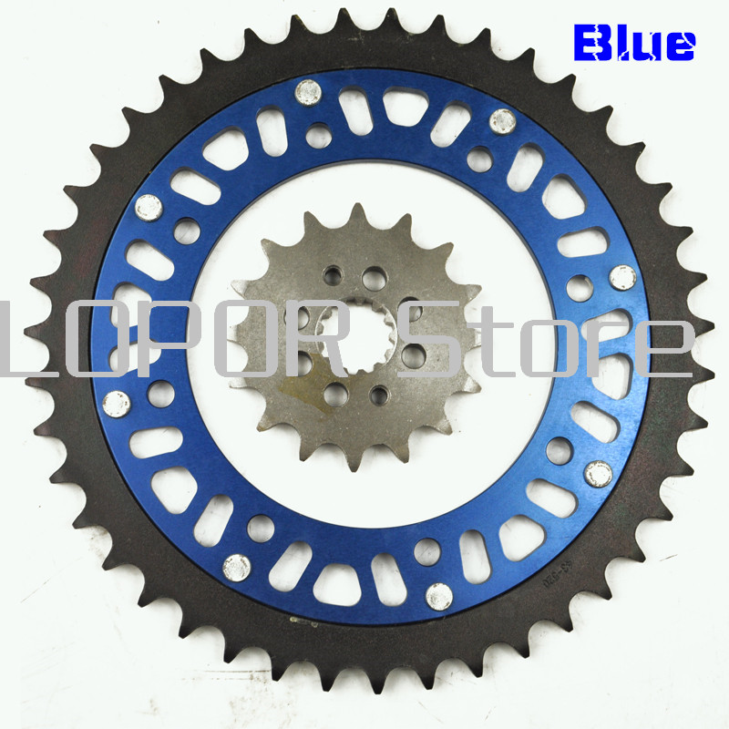 LOPOR Motorcycle 43T Rear & 14T Front Sprocket Kit For Kawasaki KLR500 1988, KLR650 KLR 650 A1 A2 A3 KL650 B1 1987-1990 New motorcycle 530 17t 43t front