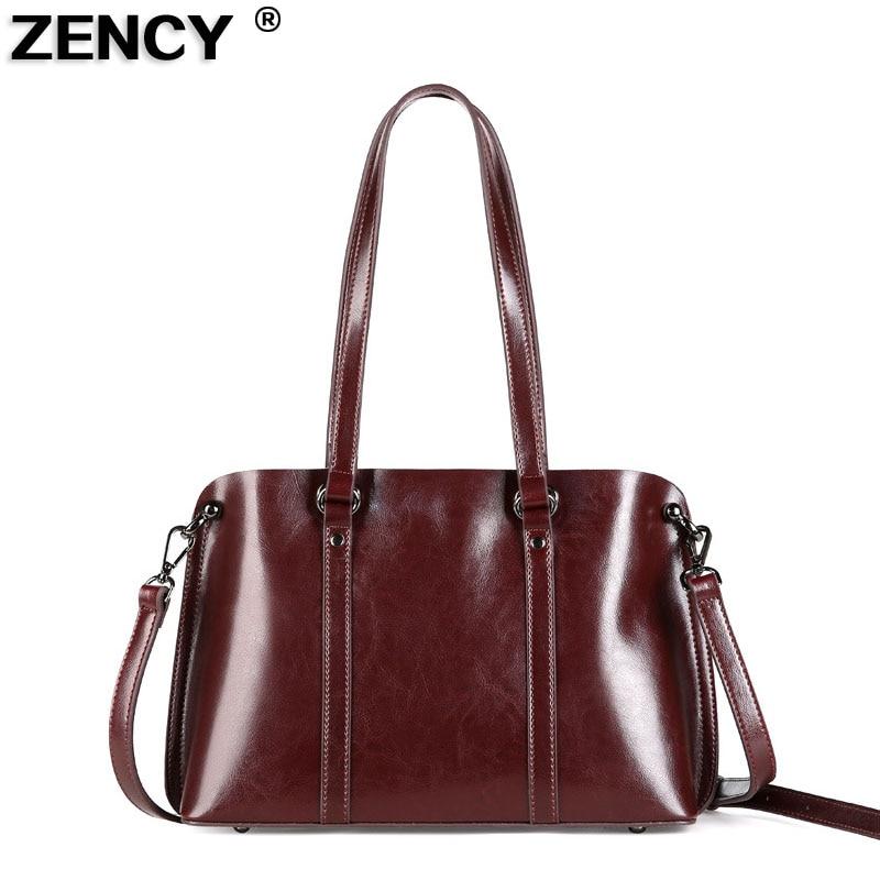 New Style Women Messenger Bag Genuine Leather Handbag Designer Female Satchel Oil Wax Leather Ladies s