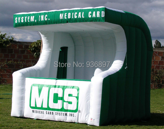 Free shipping inflatable counter bar inflatable booth advertising tent attractive advertising inflatable booth white or colorful inflatable cube tent