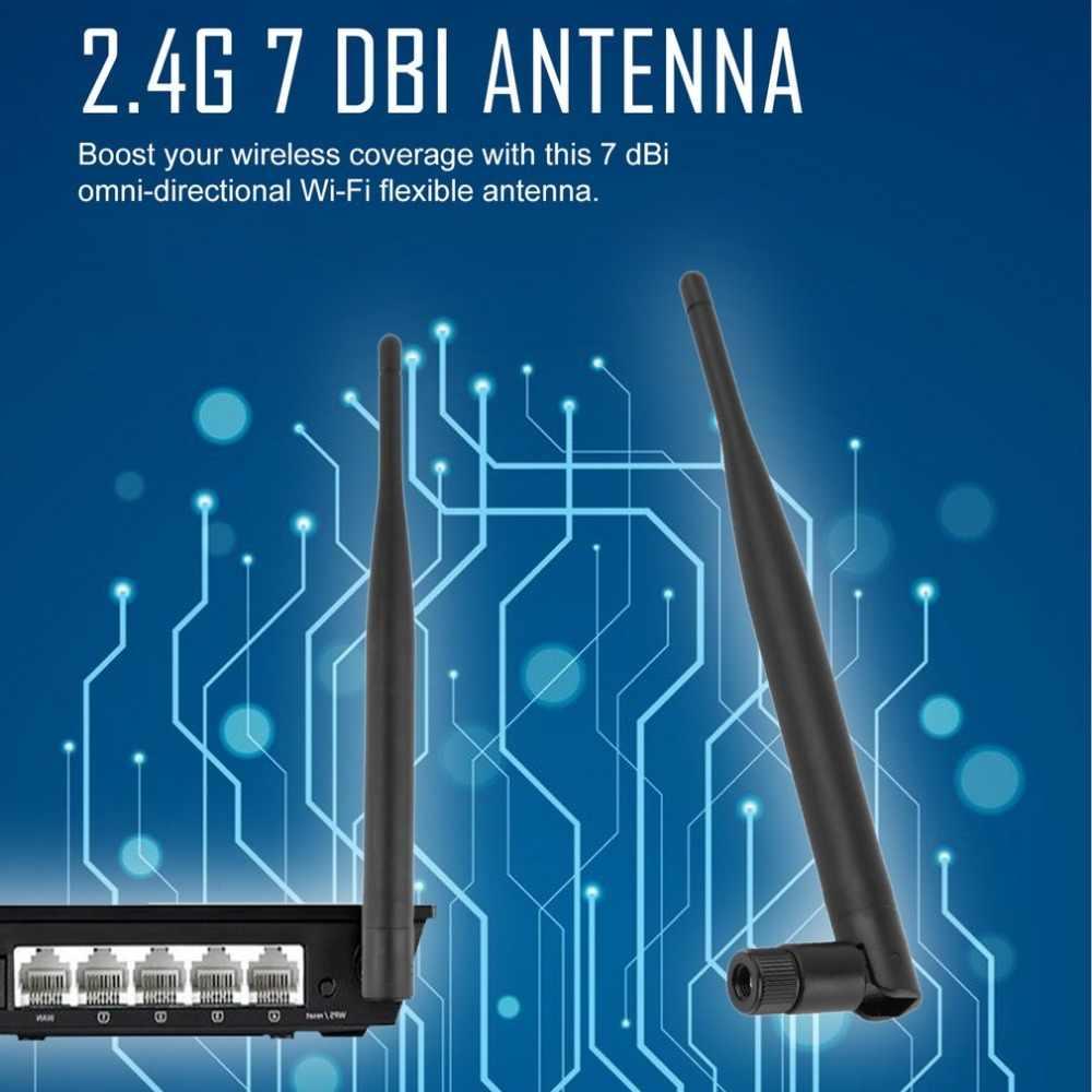 סיטונאי 2.4GHz 7dBi אלחוטי WIFI אנטנת Booster WLAN RP-SMA f PCI כרטיס מודם נתב Drop