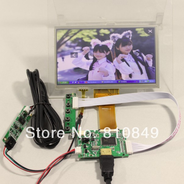 HDMI input LCD controller board+7inch 800x480 AT070TN93/ EJ070NA-03Alcd with touch panel hdmi vga 2av driver board 7inch 800 480 at070tn93 ej070na 03a touch panel remote