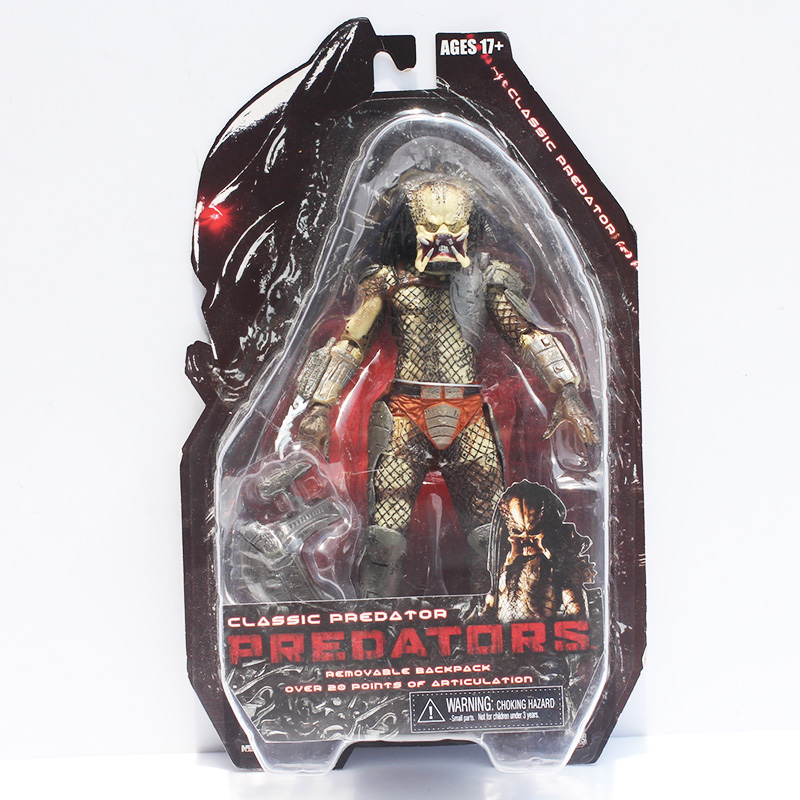 Free Shipping NECA Predator Movie Series 1 Classic Predator PVC Action Figure Model Toy 820cm neca predator 2 pvc action figures toys collectible model dolls classic toy great gift 718cm with box free shipping
