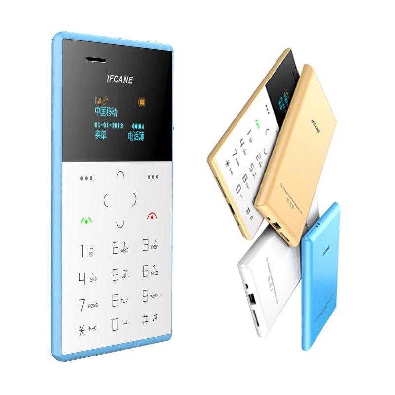Étudiant faible rayonnement BT dialer anti perdu MP3 FM radio mini taille ultra mince entreprise carte de crédit poche téléphone P058