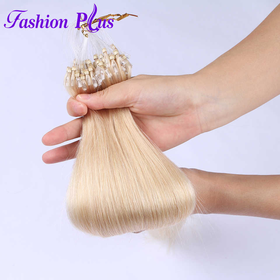Micro Loop Ring Hair Extensions 613 Blonde Micro Bead Hair Extensions Remy Haar Micro link Hair Extensions 1 g/s 100g 18 ''-24''