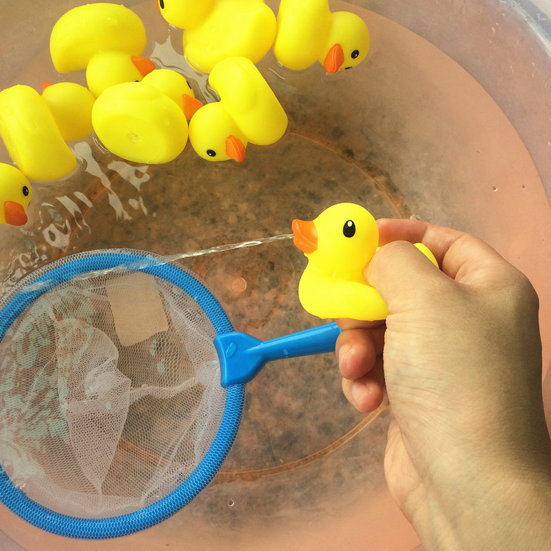 Bath Toys in the Bathroom Rubber Duck Water Spray Ducks Fishing Toys ...
