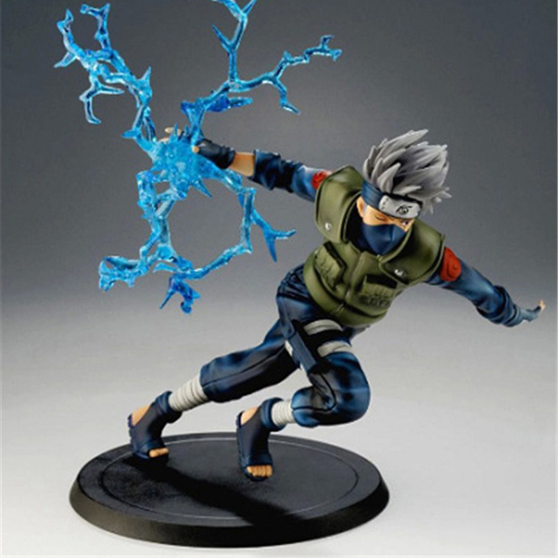 Naruto Hatake Kakashi  Action Figures Toys Japan Anime Naruto Figurines Collection PVC Model Toy for Anime Lover  15cm N135 free shipping 12 naruto anime ninja copiador hatake kakashi light blade stand boxed 30cm pvc action figure collection model toy