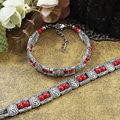 Tibetan Silver Jewelry Beads Bangle Turquoise Chain Bracelets Charming Fashion