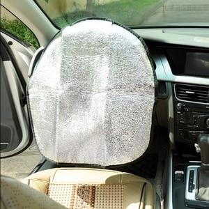 Image 2 - 20Pcs Car Steering Wheel Sunshade 2 Layer Silver Auto Sun Shade Sun Protection Jacket Insulated Aluminum Foil Handlebar Cover