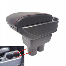 Armrest storage box car organizer seat gap case pocket content with USB cup holder FIT FOR Suzuki Jimny armrest