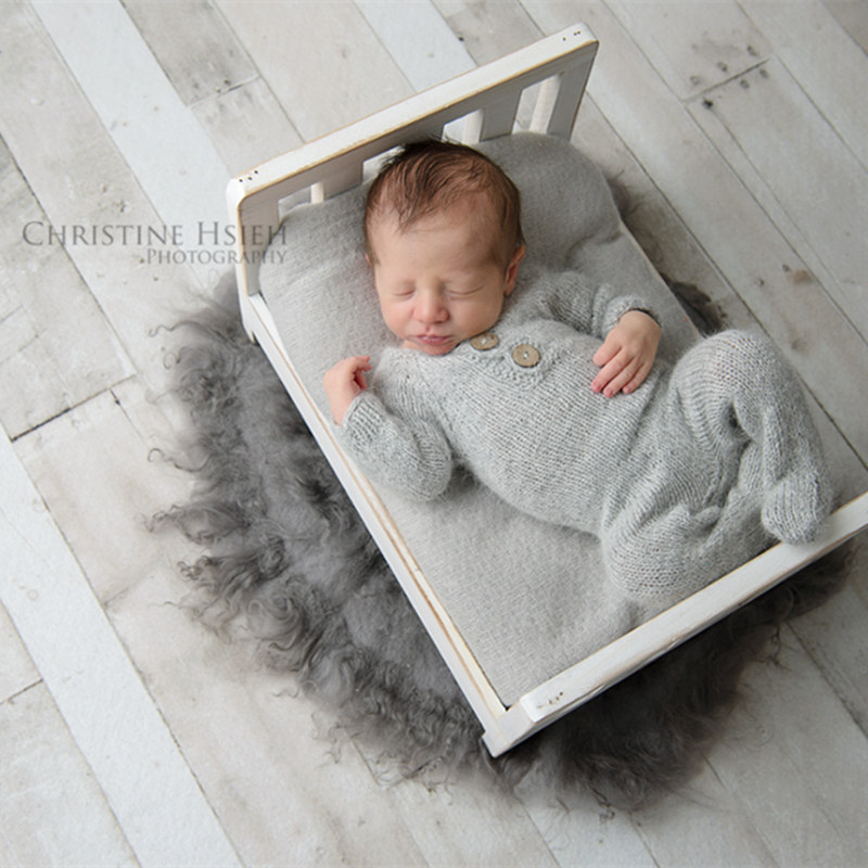 Newborn footed romper photography props,handmade mink yarn outfits bodysuit with bonnet baby photography propsNewborn footed romper photography props,handmade mink yarn outfits bodysuit with bonnet baby photography props