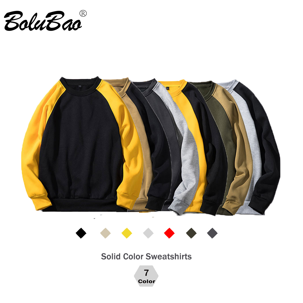 BOLUBAO Sweatshirts Men Warm Pullover Streetwear Long Sleeve Patchwork Hoodies Mens Clothes Fashion Couple Sportswear EU Size