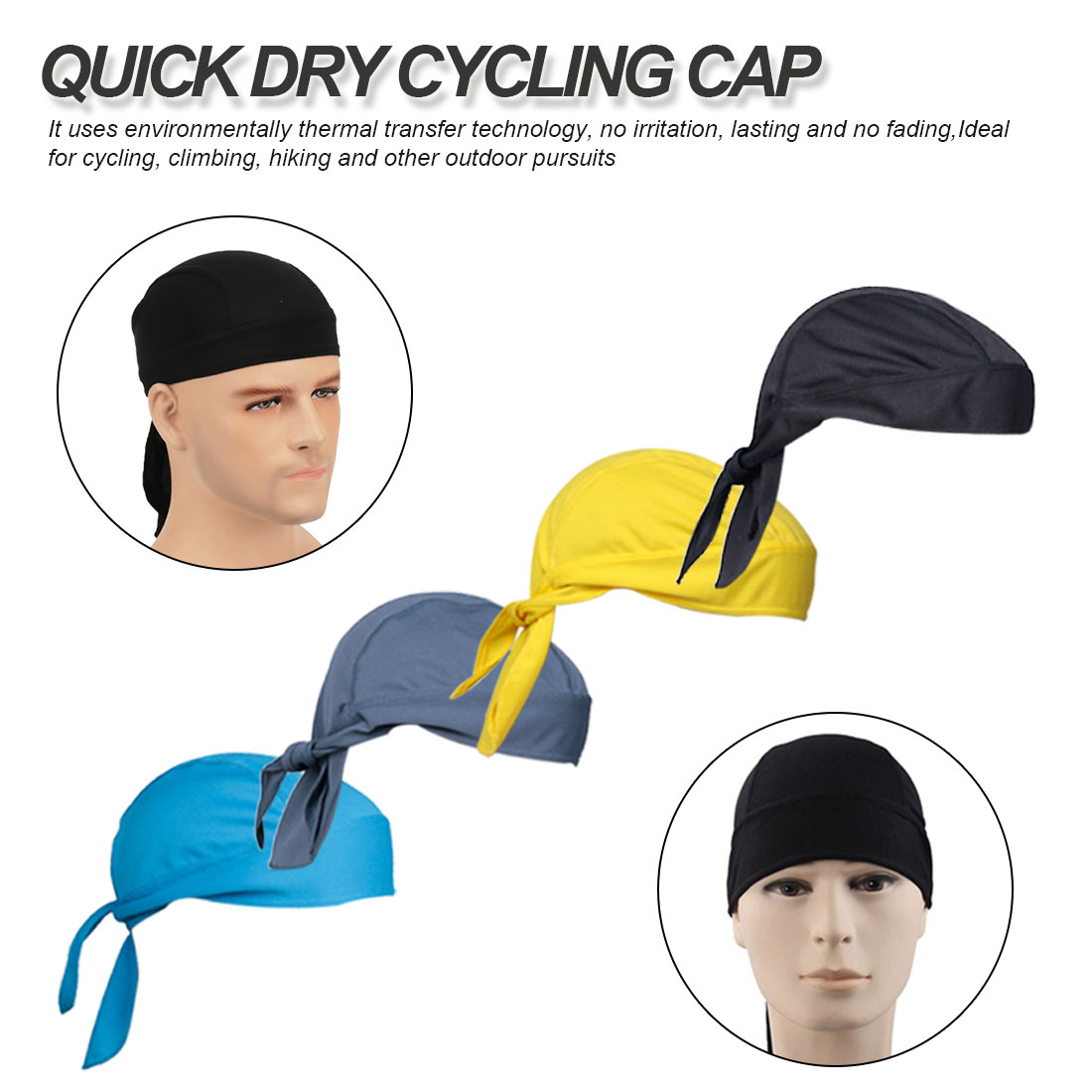 XINTOWN Outdoor Cycling Cap Pirate Hat Headband Anti-sweat Road MTB Bicycle Caps