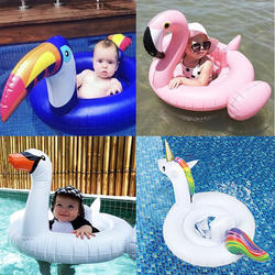 Фламинго/единорог/лебедь/Тукан ребенка ездить-на бассейн кольцо надувной бассейн поплавок для Дети безопасности на воде сидушка лежак