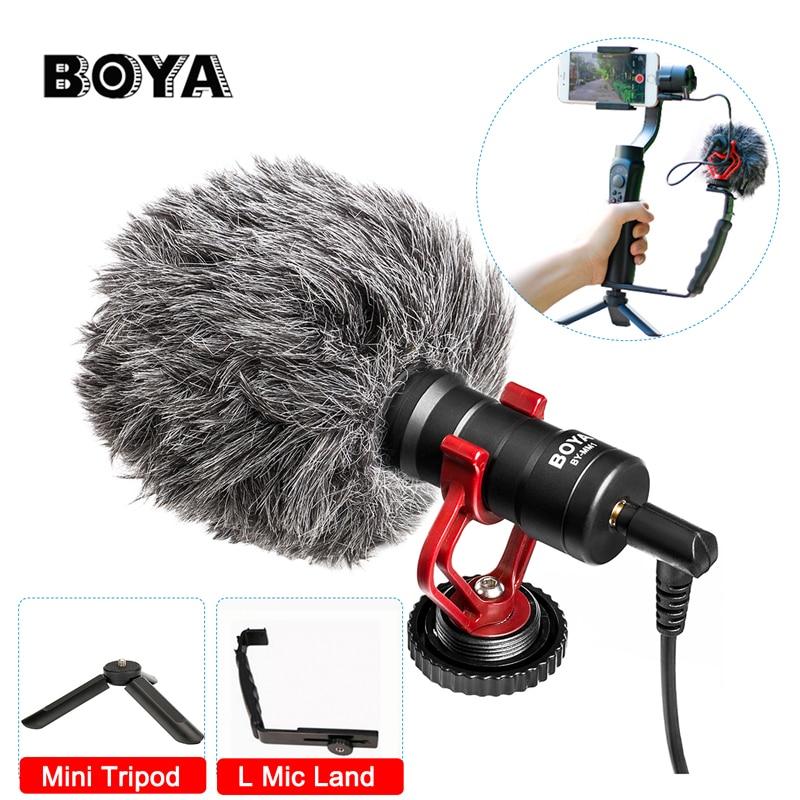 Ulanzi L Support + Mini Trépied + Boya Microphone Kit pour Zhiyun zhi yun Lisse Q Feiyu Cardan DJI OSMO sur Gopro Hero Smartphone