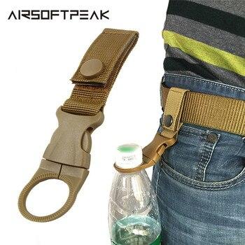Nylon Molle Webbing Water Bottle Carabiner Belt Backpack Hanger Hook Outdoor Buckle Holder Clasp Tool Clip Hunting Accessories 1