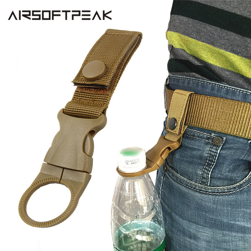 Fashion Hiking Traveling Water Bottle Holder Strap Belt Carabiner Tool USA