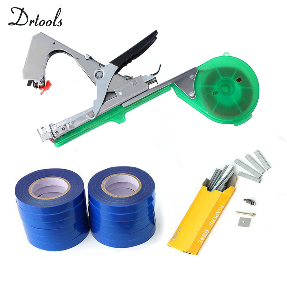 Drtools Garden Tools Plant Tying Machine Branch Hand Tying Machine Tapetool Tapener Packing Vegetable Stem Strapping T1- T8