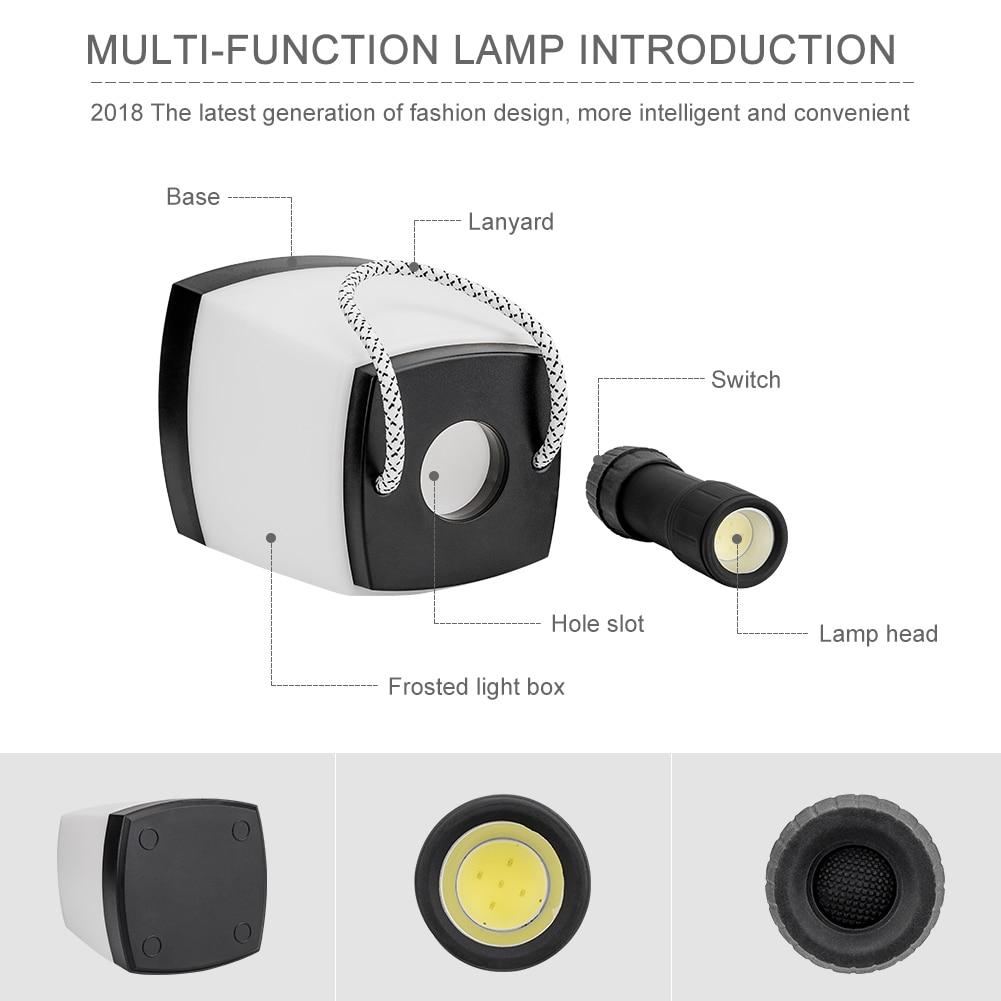 2 In 1 Multifunction COB LED Night Light&LED Flashlight Super Bright Portable Lanterns LED Light Camping For Camping Hiking