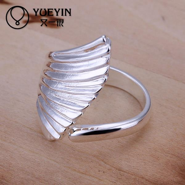 Engagement-Ring Silver-Plated Women for Lady Bijoux Wing-Shape Cute Anillo