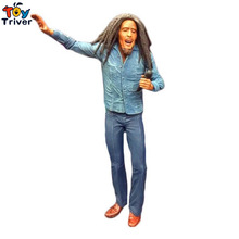 лучшая цена 17cm NECA Jamaica Singer Bob Marley Reggae PVC Action Figure Collectible Model Toy Doll Birthday Christmas Music Gift Triver Toy