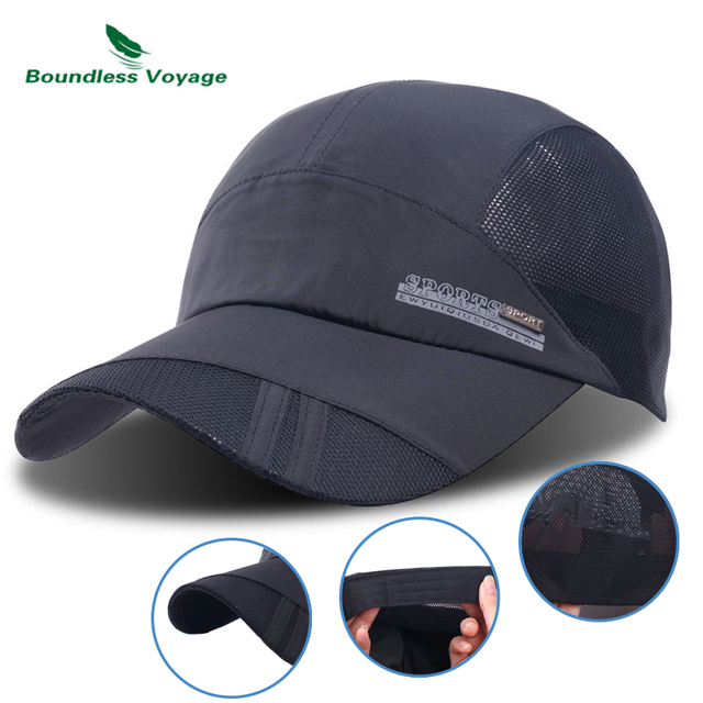 Boundless Voyage Quick Dry Sports Hat Lightweight Breathable Soft Outdoor  Run Cap Waterproof Headgear BVH06 47a90a885cc7