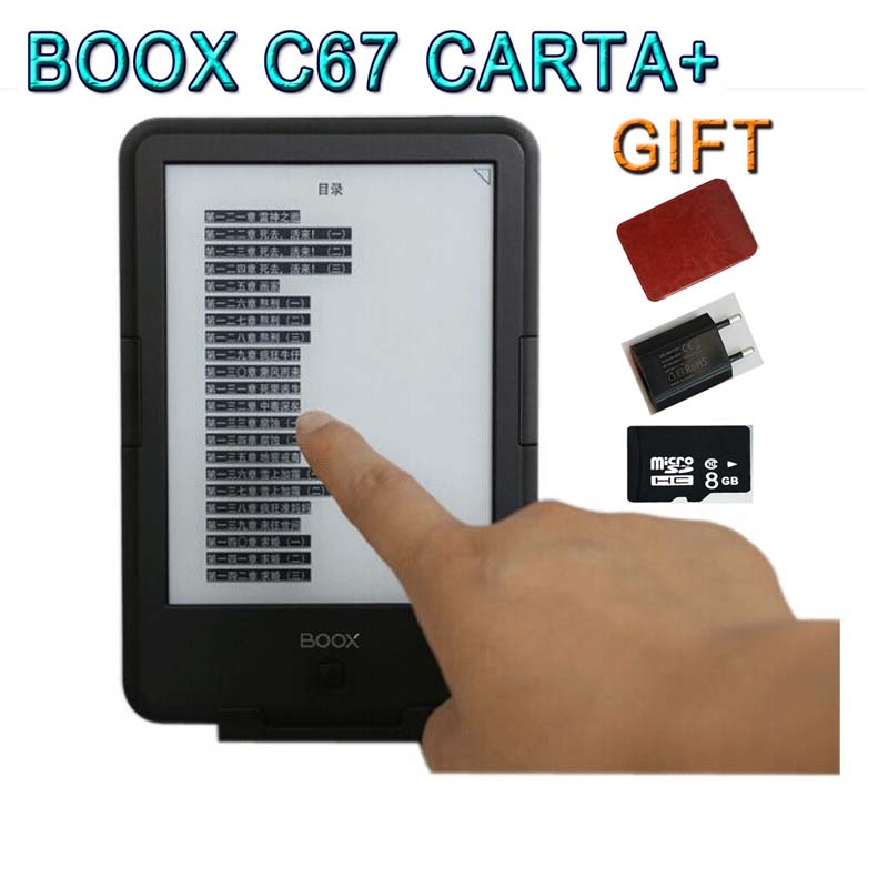 New Original Front Light e-Book ONYX BOOX C67ML Carta+ eBook Reader 6″ 8G 3000mAh Android Touch Screen E-Book eink eReader+COVER