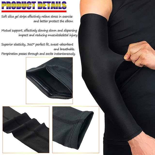 WorthWhile Sports Arm Compression Sleeve Basketball Cycling Arm Warmer Summer Running UV Protection Volleyball Sunscreen Bands 4