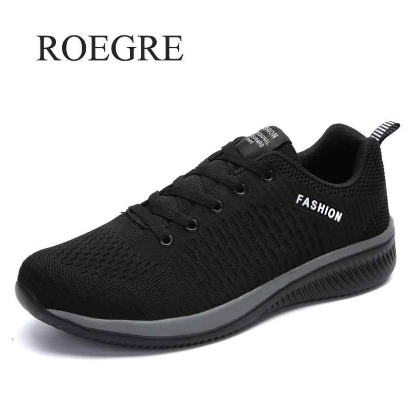 2019 Yeni Örgü Erkek rahat ayakkabılar Lac-up erkek ayakkabısı Hafif, Rahat Nefes Yürüyüş Sneakers Tenis Feminino Zapatos