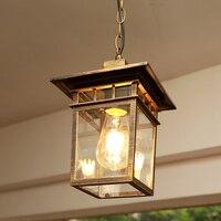 American chandelier waterproof outdoor lamps courtyard lamps rust corridor balcony lamp outdoor garden villa light ZA418557