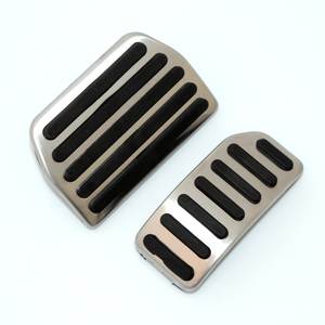 Image 2 - Car styling ,Stainless steel Gas pedal Brake Pedal For VOLVO XC60 XC70 V60 V70 S40 S60 S80 C30,Car Accessories