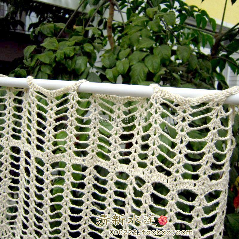 Lujoso Patrones De Cortina De La Ventana De Crochet Libre Ornamento ...