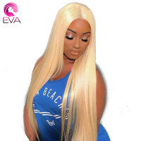 150% Density 613 Blonde Straight Full Lace Human Hair Wigs Pre Plucked With Baby Hair Eva Hair Brazilian Virgin Hair Lace Wigs