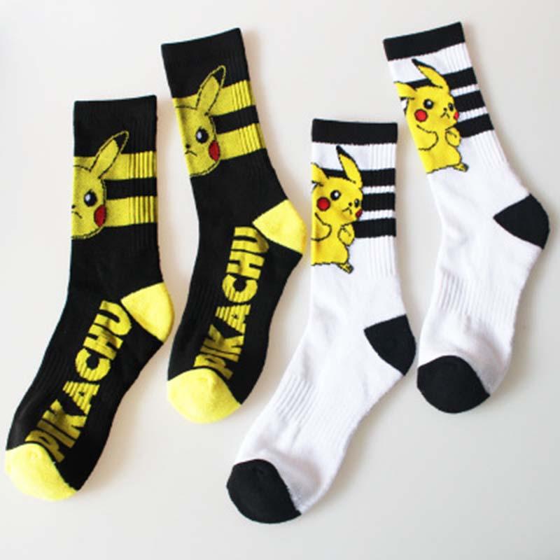 font-b-pokemon-b-font-go-long-and-short-socks-women-men-cartoon-pikachu-super-marie-poke-ball-cosplay-socks-sweat-absorbent