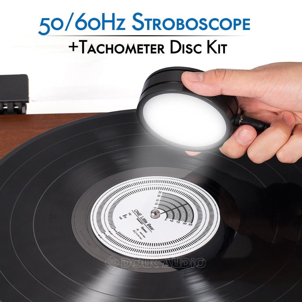 Nobsound 50/60Hz stroboscopique vitesse stroboscopique lumière + tachymètre disque pour tourne-disque LP enregistrements accessoires de lecteur phonographe