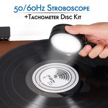 Nobsound 50/60Hz Stroboscopic מהירות Strobe אור + Tachometer דיסק עבור פטיפון רשומות LP פטיפון נגן אביזרים