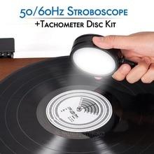 Nobsound 50/60Hz سرعة إصطناعية ضوء إحترافي + مقياس سرعة الدوران القرص الدوار LP سجلات الفونوغراف لاعب الملحقات