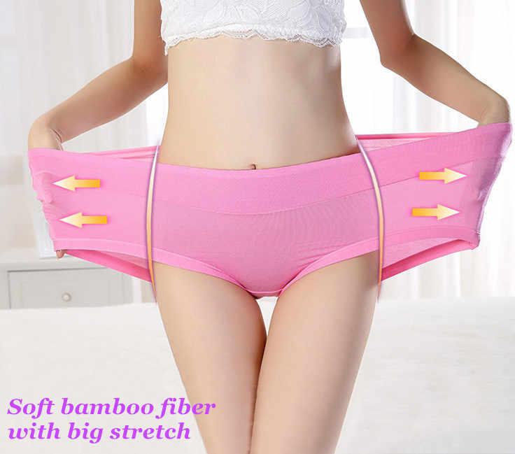 3151d88a5 ... NITA Big Size Natural Bamboo fabric Panties Full Figure Hipsters  Women s Underwear Soft Viscose Briefs Plus ...