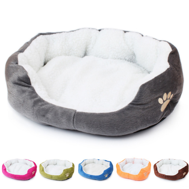 Winter Paw Print Bed