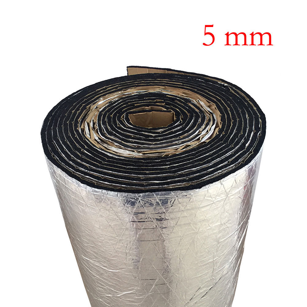 50cm*100cm*5mm Car Auto Van Sound Proofing Deadening Insulation Foam Noise Bonnet Insulation Deadening Foam Sticker