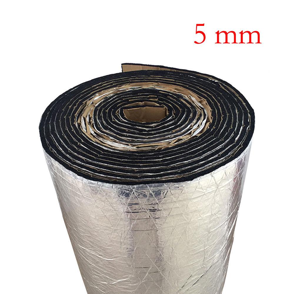 50cm 100cm 5mm Car Auto Van Sound Proofing Deadening Insulation Foam Noise bonnet Insulation Deadening Foam Sticker