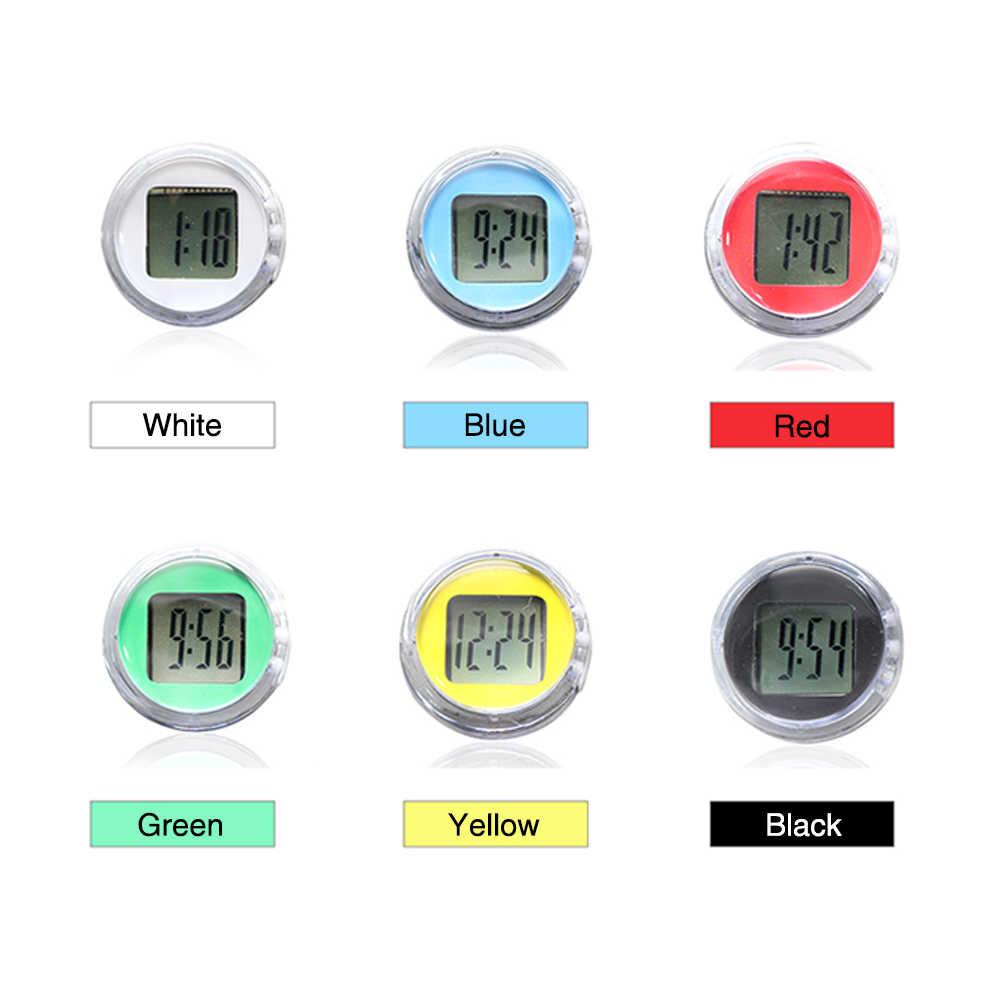 Zsdtrp 1 pc mini relógio digital da motocicleta à prova dwaterproof água vara no tempo de exibição moto para atv todos moto