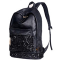 New Fashion Women Backpack Big Crown Embroidered Sequins Backpack Wholesale Women Leather Backpack School Bags